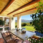 Porch of winelands beach villa