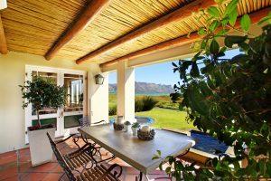 Porch of winelands beach villa