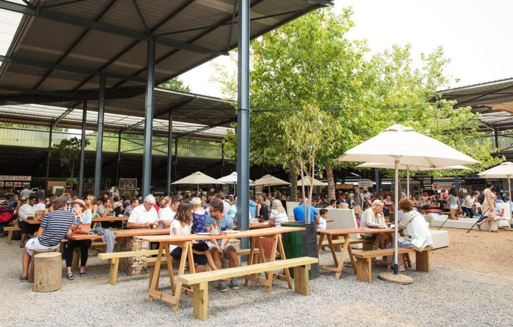 Lourensford market in Winelands
