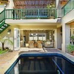 Pool area in quad at luxury villa